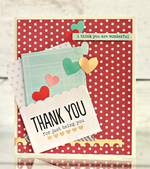 handmade thank you cards  pebbles inc
