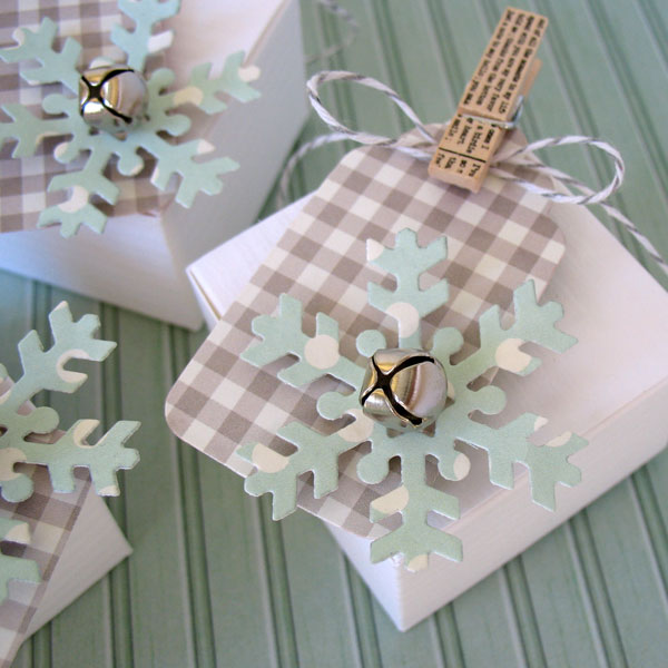Holiday gift wrap and tags