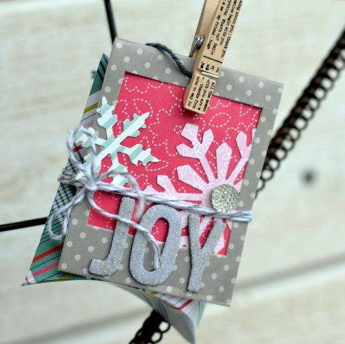 Handmade holiday boxes and tags