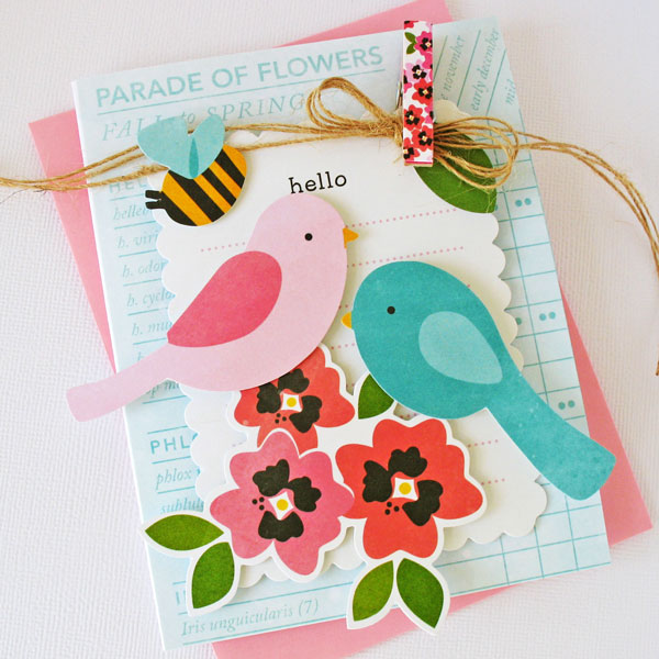 Spring cards and a handmade gift using Pebbles Inc. Garden Party collection