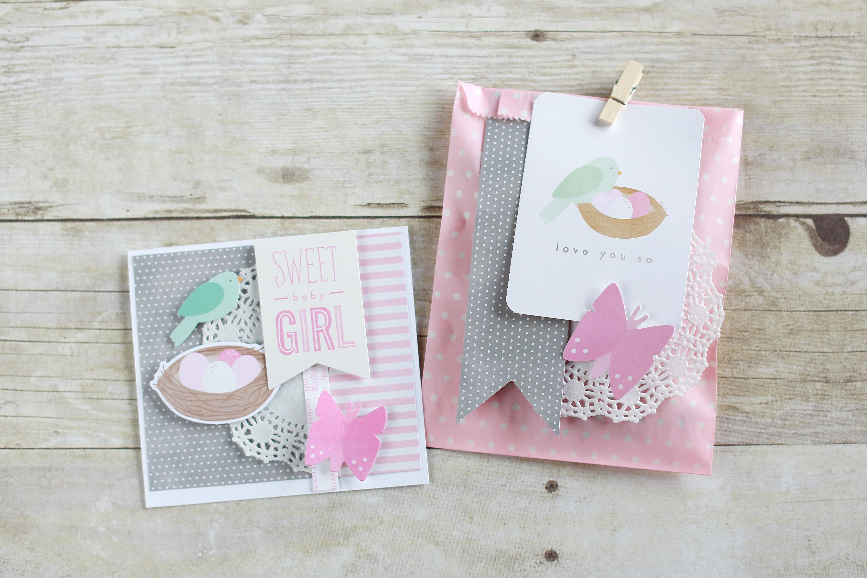 Handmade Baby Card and Bag - Pebbles, Inc.