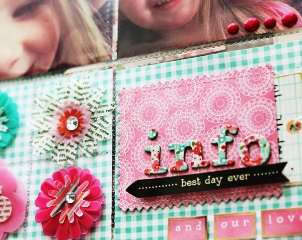 Project Life inspired pages using Pebbles Inc. Garden Party collection