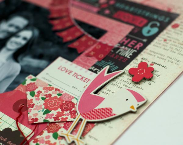 Valentine's Day Scrapbook Layout