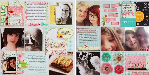 Project Life inspired pages using the Pebbles Inc Garden Party collection
