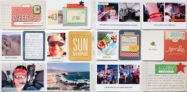 Project Life scrapbooking with journal cards