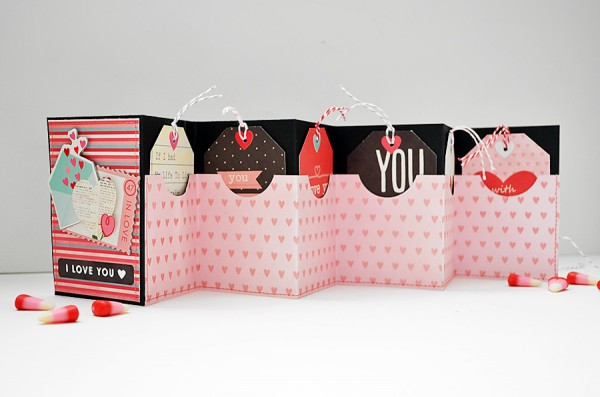 Accordion-style Valentien's Day Card created by Wendy Sue Anderson