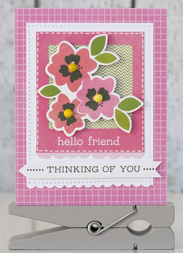 Handmade cards for spring featuring the Garden Party collection
