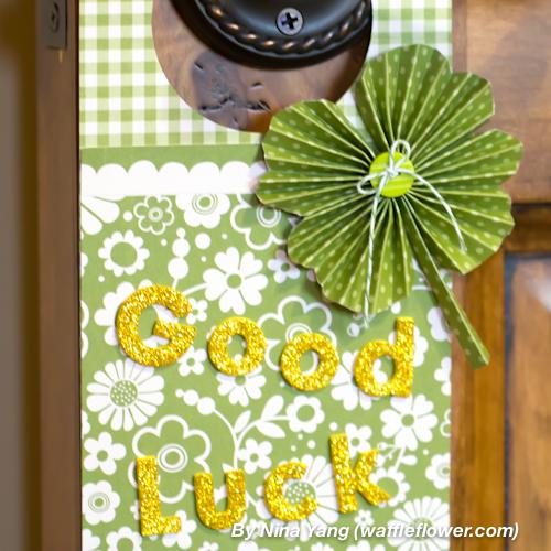 Lucky Clover Door Hanger 8 3.12.14