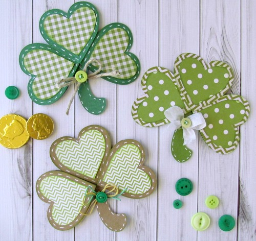 Shamrock card for St. Patrick's Day
