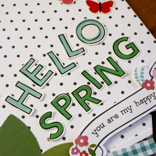 Spring scrapbook layout created by @justem using the @PebblesInc Garden Party line #scrapbooking #spring