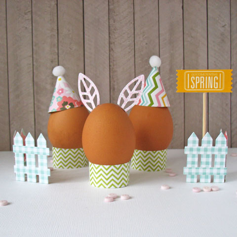 Easter egg decorating with @PebblesInc #GardenParty collection paper by @kathymartin #papercraft #Easter #Eastereggs #EasterCraft