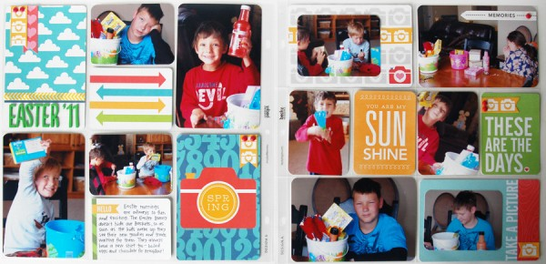 #ProjectLife inspired scrapbook layout created by @WendySue #scrapbooking