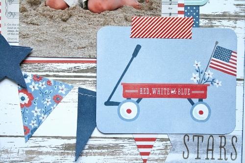 All American Boy scrapbook layout created by @antenucci for @PebblesInc #scrapbooking #patriotic #American