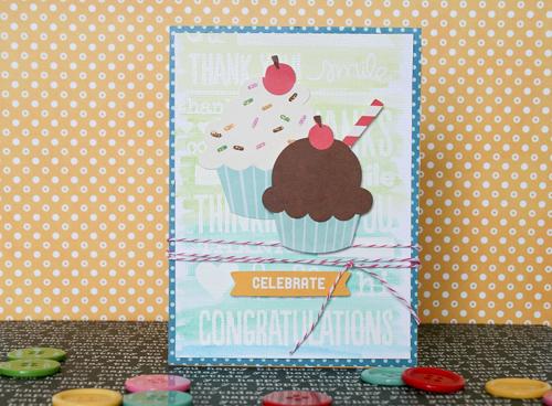 Handmade birthday card created by @antenucci for @PebblesInc using the #BirthdayWishes collection #birthday #card #handmade