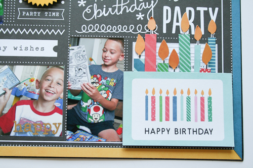 Birthday layout created by @antenucci using @PebblesInc rub-ons #scrapbooking #birthday
