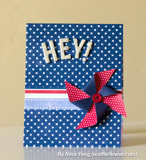 Handmade hello cards created using @PebblesInc #Americana collection by @ninacrafting #handmade #cards #summer