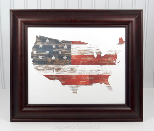 American Flag Home Decor by @popperandmimi that will brighten up any space and add a touch of patriotism all year long. #FourthofJuly #patriotic