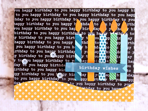 Personalized birthday cards made by @scrapn2lilprins using the #BirthdayWishes collection. #PebblesInc #Birthday