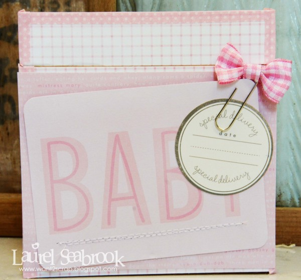 Baby shower gift created by @LaurelSeabrook using @PebblesInc #SpecialDelivery collection #babyshower #baby #gift