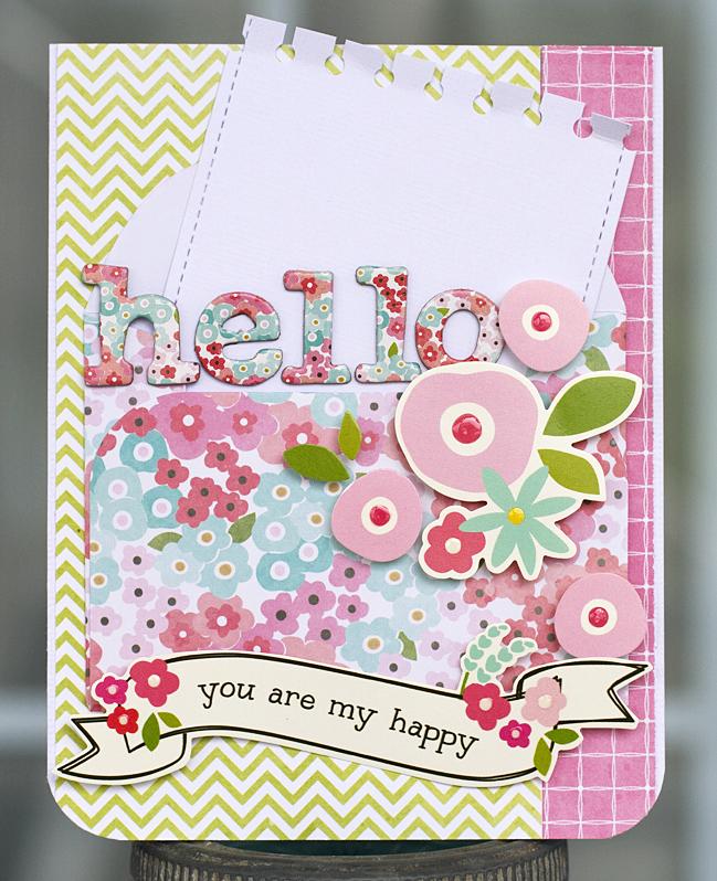 handmade hello cards  pebbles inc