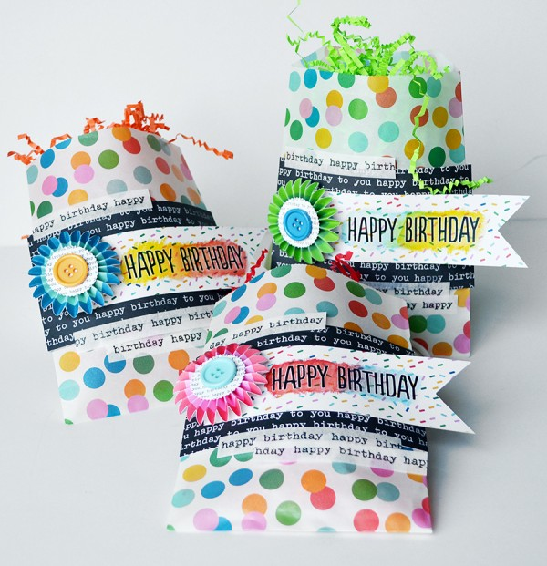 Birthday bags created using the #BirthdayWishes line by @PebblesInc Created by @wendysue #birthday #gift