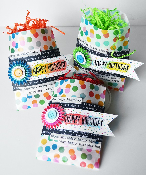 Birthday bags created using the #BirthdayWishes line by @PebblesInc Created by @wendysue #birthday #gif