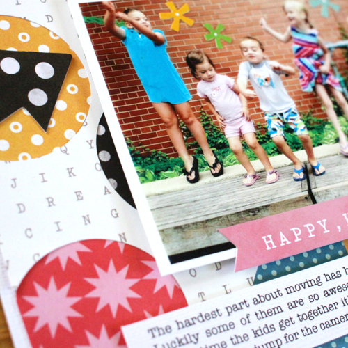 Bright and beautiful layout ideas from @justem using #PebblesInc collection #BirthdayWishes. #layout