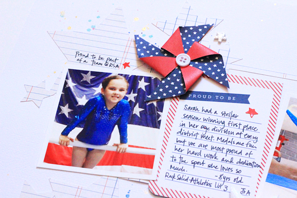 Add a dash of patriotic flare with this layout by @beckywilliams using the #Americana line by @PebblesInc. #america #redwhiteandblue