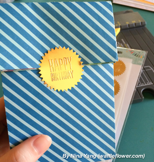 Versatile and fun birthday gift bags with pops of color made by @waffleflower using #PebblesInc collection #BirthdayWishes.