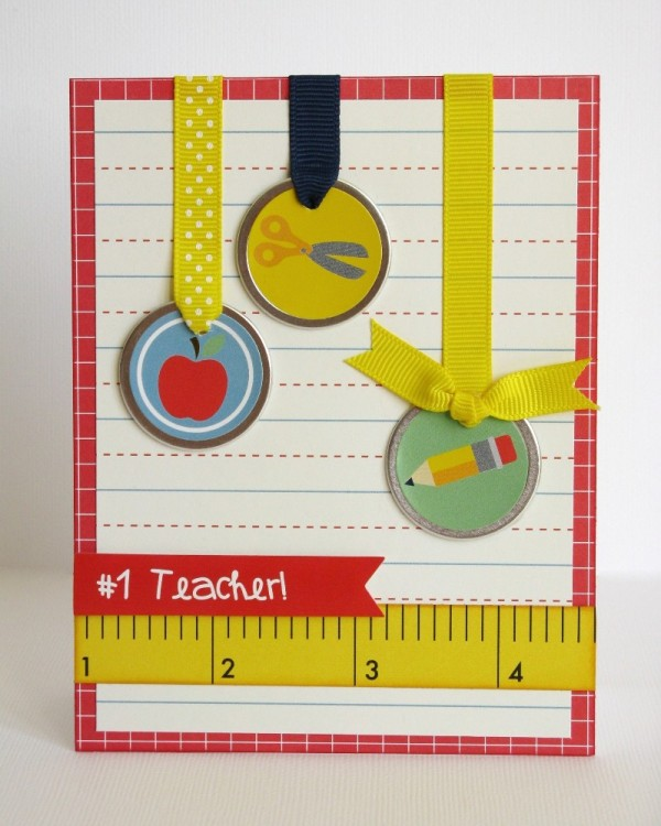 Pebbles Inc. Back To School Card by Mendi Yoshikawa @PebblesInc. @Mendi Yoshikawa