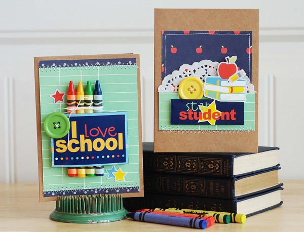 Back to school cards created by @beckiadams for @pebblesinc