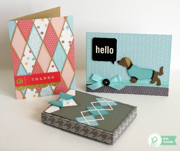 Sweater Weather Cards by Mendi Yoshikawa using the #JHHomeMade collection from @PebblesInc.