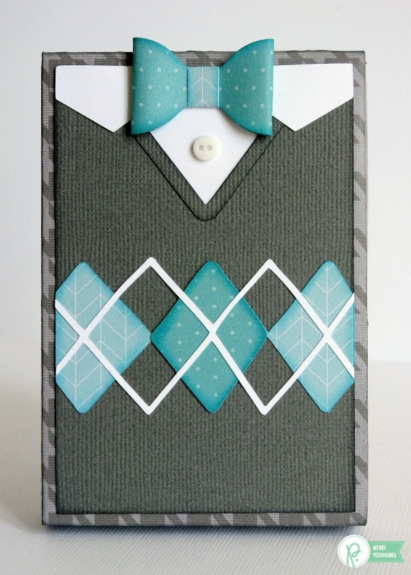 Sweater Weather Gift Card Box by Mendi Yoshikawa using the #JHHomeMade collection from @PebblesInc.