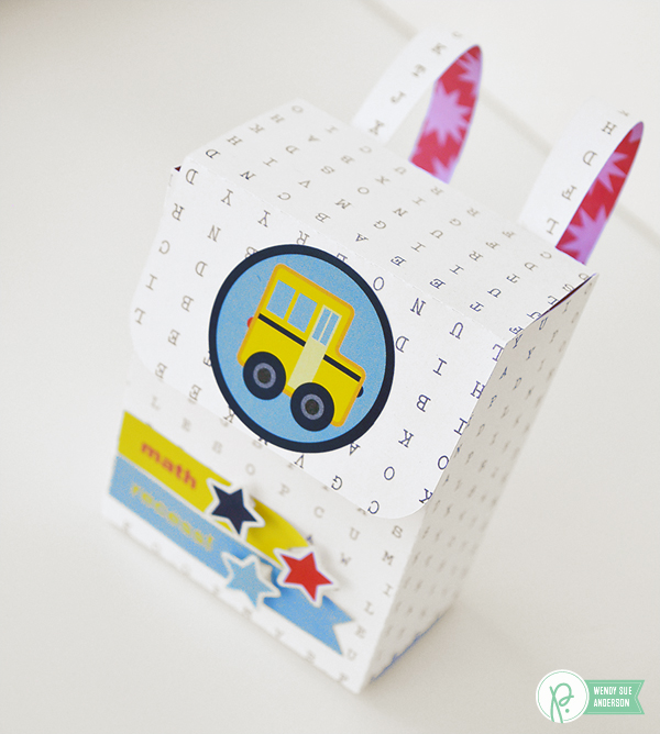 clever little back to school backpack boxes by @wendysue using the #backtoschool and #birthdaywishes collections by @pebblesinc.