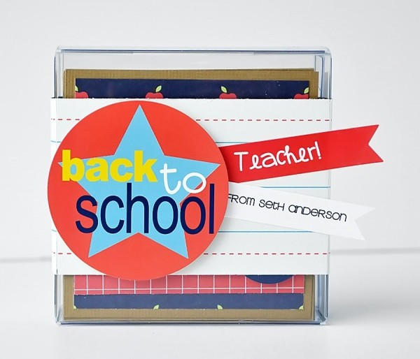 Personalized Teacher Cards for Back To School Gift by @wendysue using the #backtoschool collection by @pebblesinc