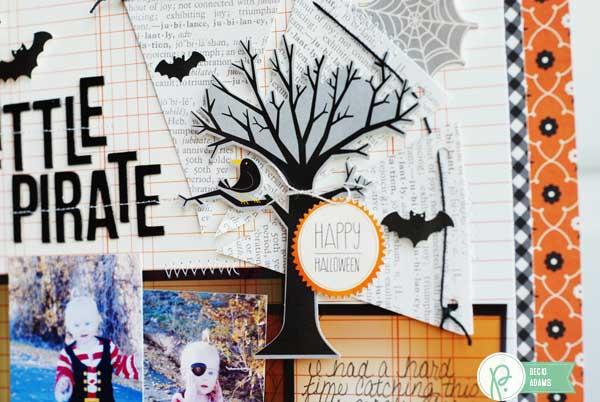 Halloween layout created by @jbckadams for @pebblesinc