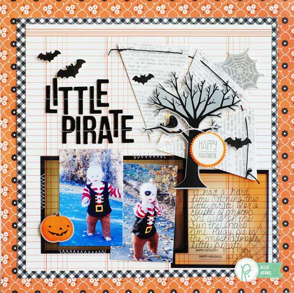 Halloween layout created by @jbckadams for @pebblesinc