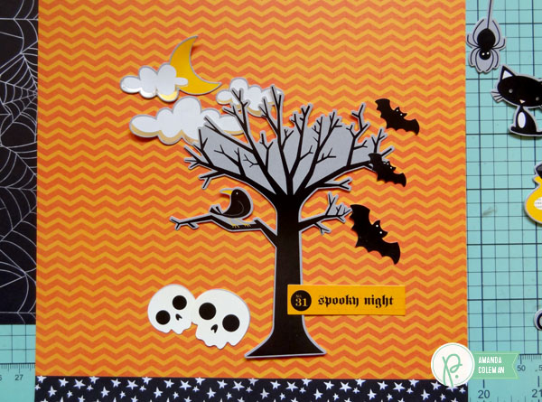 Halloween Scene Cards by @popperandmimi using @PebblesInc Thirty-One collection