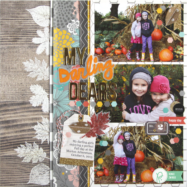 playful fall layout by @reneezwirek using the #JHHomeMade collection by @Pebbles Inc. and @Tatertots and Jello .com