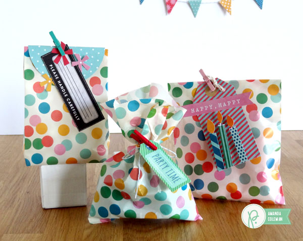 Party Favor Bags by @popperandmimi using @PebblesInc Birthday Wishes collection