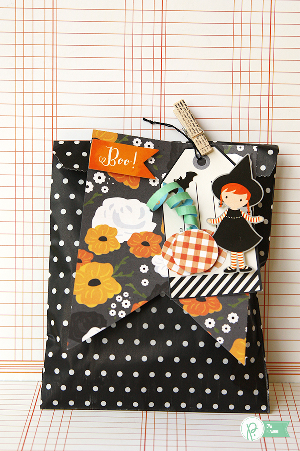 Halloween Treat Bags by @evapizarrov  using #ThirtyOne collection from @pebblesinc