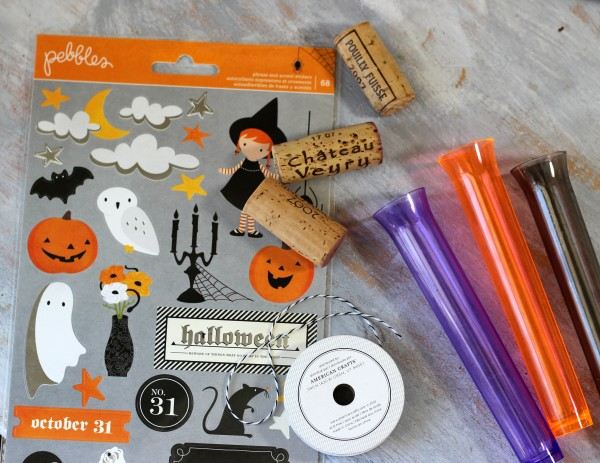 Simple Halloween Treats containers made with @pebblesinc Thirty One collection by @ribbonsandglue