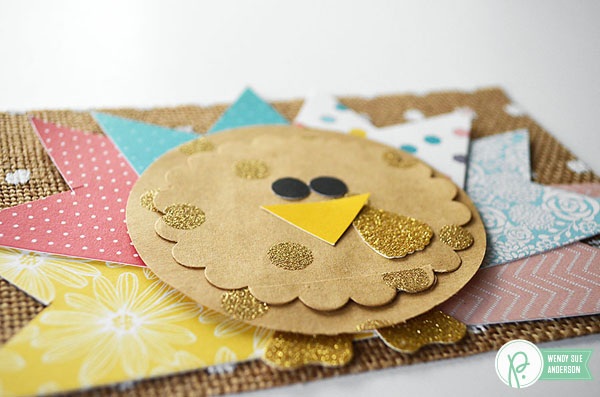 Turkey Layout by @WendySueA with the #JHHomeMade collection by @tatertotsandjello and @PebblesInc.