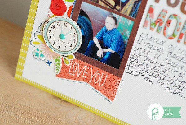 A layout using the Happy Day collection by @jbckadams for @Pebblesinc