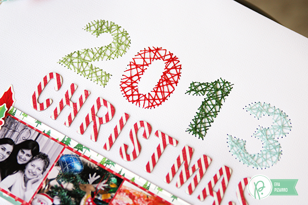 String Art Layout by @evapizarrov  using the #HomeforChristmas collection by @pebblesinc