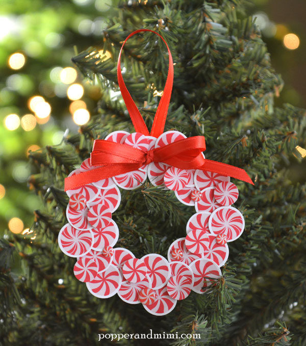 Mini Wreath Ornaments by @popperandmimi using @PebblesInc Home for Christmas collection