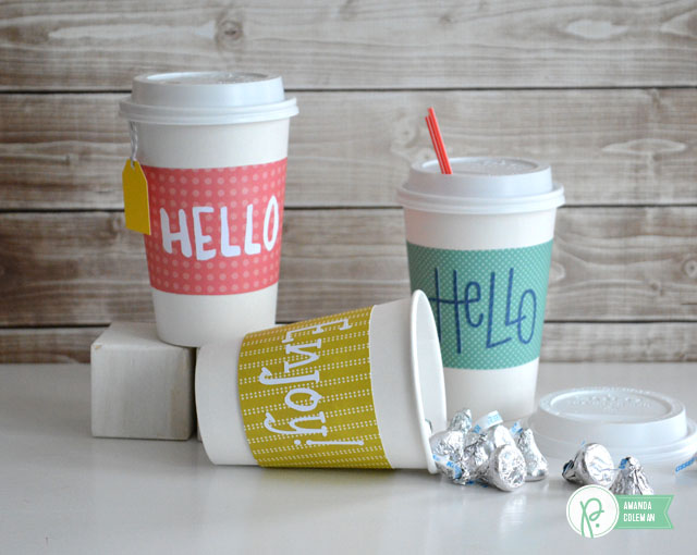 Coffee Cup Gift Wrap by @popperandmimi using @pebblesinc  Happy Day collection