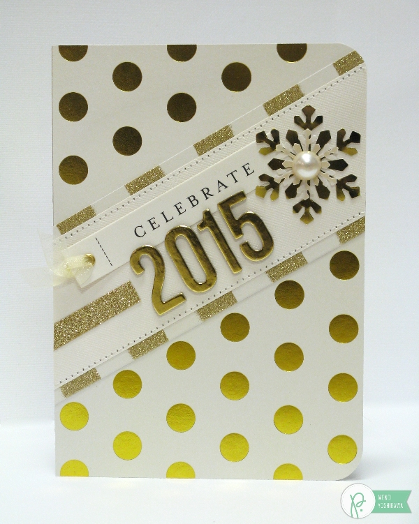 New Year Card by Mendi Yoshikawa using the #JHHomeMade collection from @PebblesInc. @SnippetsByMendi