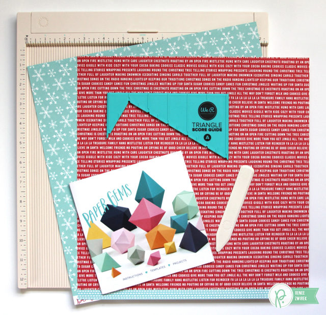Paper Gem Gift Card Holders by @reneezwirek using the #HomeForChristmas collection by @PebblesInc.