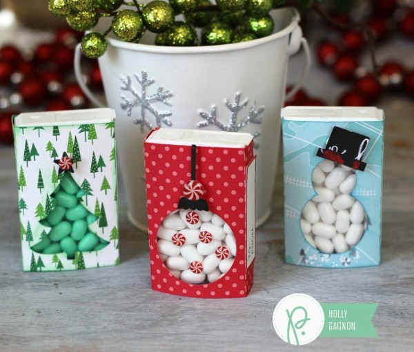 Tic Tac holder gifts made with @pebblesinc Home for Christmas collection by @ribbonsandglue